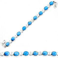925 sterling silver natural blue owyhee opal tennis bracelet jewelry d30044