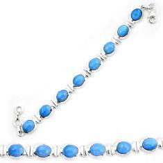 Natural blue owyhee opal 925 sterling silver tennis bracelet jewelry d30045