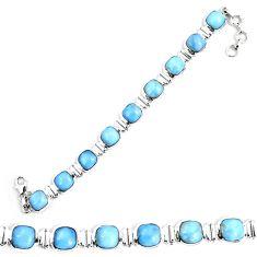 Natural blue owyhee opal 925 sterling silver tennis bracelet jewelry d30081
