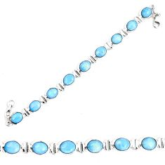 Natural blue owyhee opal 925 sterling silver tennis bracelet jewelry d30083