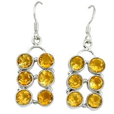 Clearance Sale- itrine 925 sterling silver dangle earrings jewelry d10007