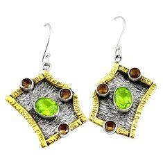 Clearance Sale- artz 925 silver two tone dangle earrings jewelry d10162