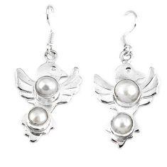 arl round 925 sterling silver dangle earrings jewelry d10227