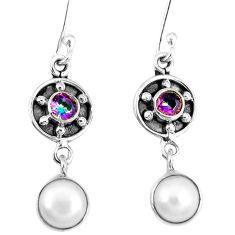 Clearance Sale- arl rainbow topaz 925 silver dangle earrings jewelry d12406