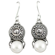 Clearance Sale- Natural blister pearl 925 sterling silver dangle earrings jewelry d12469