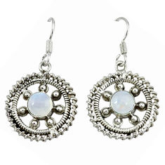 Clearance Sale- moonstone 925 sterling silver dangle earrings d12482