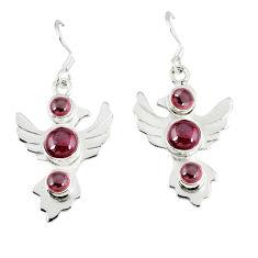 Clearance Sale- garnet dangle earrings jewelry d12504