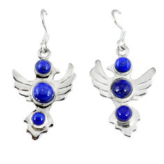 Clearance Sale- 925 sterling silver natural blue lapis lazuli earrings jewelry d12510
