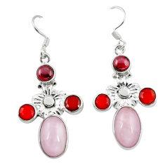 Clearance Sale- zite onyx 925 sterling silver dangle earrings d12647