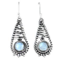 Clearance Sale- moonstone 925 sterling silver dangle earrings jewelry d12648