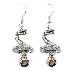 topaz anaconda snake earrings d12679