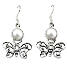 Clearance Sale- arl round 925 sterling silver butterfly earrings d12684