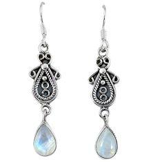 Clearance Sale- moonstone 925 sterling silver dangle earrings d12742