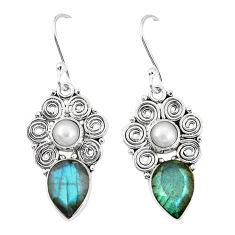 Clearance Sale- ite white pearl dangle earrings d12904