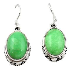 Clearance Sale- 925 sterling silver natural green variscite dangle earrings jewelry d13095