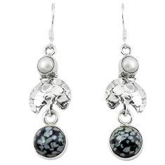 Clearance Sale- n pearl 925 silver dangle earrings d13588