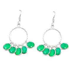 Clearance Sale- Green emerald quartz 925 sterling silver chandelier earrings d13882