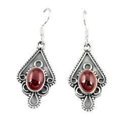 Clearance Sale- Natural red garnet 925 sterling silver dangle earrings jewelry d13956