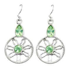Clearance Sale- ver natural lemon topaz dangle earrings jewelry d13964