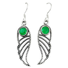 Clearance Sale- Green emerald quartz 925 sterling silver dangle earrings jewelry d14162