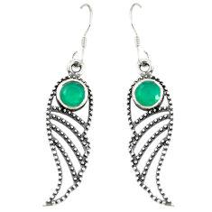 Clearance Sale- Green emerald quartz 925 sterling silver dangle earrings jewelry d14170