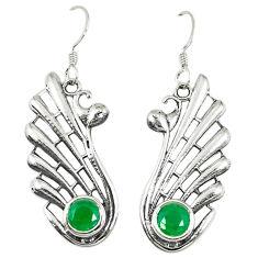 Clearance Sale- Green emerald quartz 925 sterling silver dangle earrings jewelry d14199