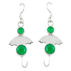 Clearance Sale- Green emerald quartz 925 sterling silver dangle earrings jewelry d14210