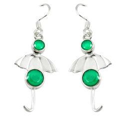 Clearance Sale- Green emerald quartz 925 sterling silver dangle earrings jewelry d14262