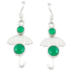 Clearance Sale- Green emerald quartz 925 sterling silver dangle earrings jewelry d14271