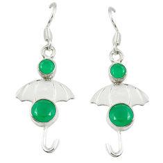 Clearance Sale- Green emerald quartz 925 sterling silver dangle earrings jewelry d14275