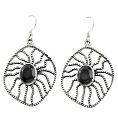 Clearance Sale- 925 sterling silver natural black onyx dangle earrings jewelry d14976