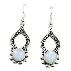 925 sterling silver natural rainbow moonstone dangle earrings jewelry d15099