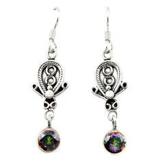 925 sterling silver multi color rainbow topaz dangle earrings jewelry d15514