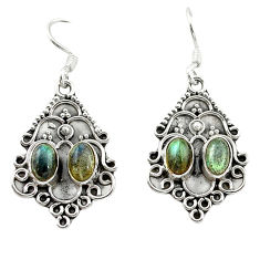 Clearance Sale- 925 sterling silver natural blue labradorite dangle earrings jewelry d15684