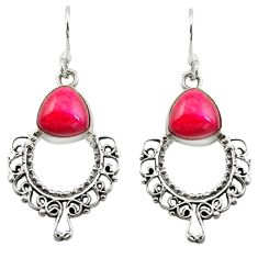 Clearance Sale- Red ruby quartz 925 sterling silver dangle earrings jewelry d15753