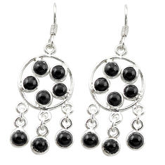 Natural black onyx 925 sterling silver chandelier earrings jewelry d15843