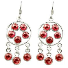 Clearance Sale- Natural red garnet 925 sterling silver chandelier earrings jewelry d15853