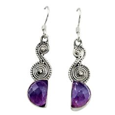 Natural multi color fluorite 925 sterling silver dangle earrings d15993