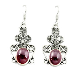 Clearance Sale- Natural red garnet 925 sterling silver dangle earrings jewelry d16007