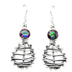 925 sterling silver multi color rainbow topaz dangle earrings jewelry d16040