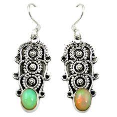 925 silver natural multi color ethiopian opal dangle earrings jewelry d16474