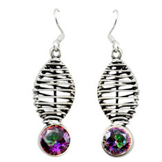 925 sterling silver multi color rainbow topaz dangle earrings jewelry d16560
