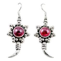 Clearance Sale- Natural red garnet 925 sterling silver dangle earrings jewelry d18207