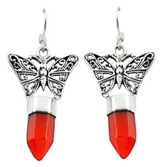 Natural honey onyx 925 sterling silver butterfly earrings jewelry d18221
