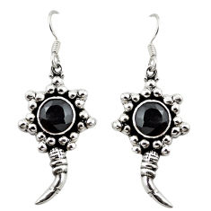 Natural black onyx 925 sterling silver dangle earrings jewelry d18234