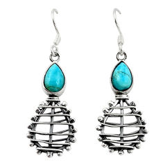 925 sterling silver natural blue larimar dangle earrings jewelry d18260