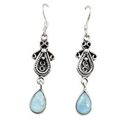 Clearance Sale- 925 sterling silver natural rainbow moonstone dangle earrings jewelry d18650