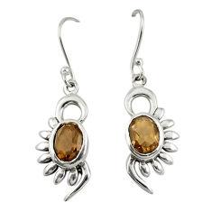 925 sterling silver brown smoky topaz dangle earrings jewelry d19684