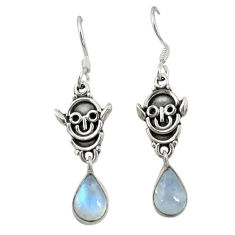 925 sterling silver natural rainbow moonstone dangle earrings jewelry d19700