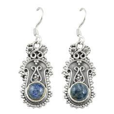 925 sterling silver natural blue labradorite dangle earrings jewelry d19804